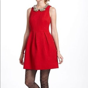 Moulinette Soeurs Pleated Brocade Holiday Dress